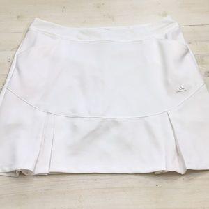 Adidas white golf tennis pleated skort sz L